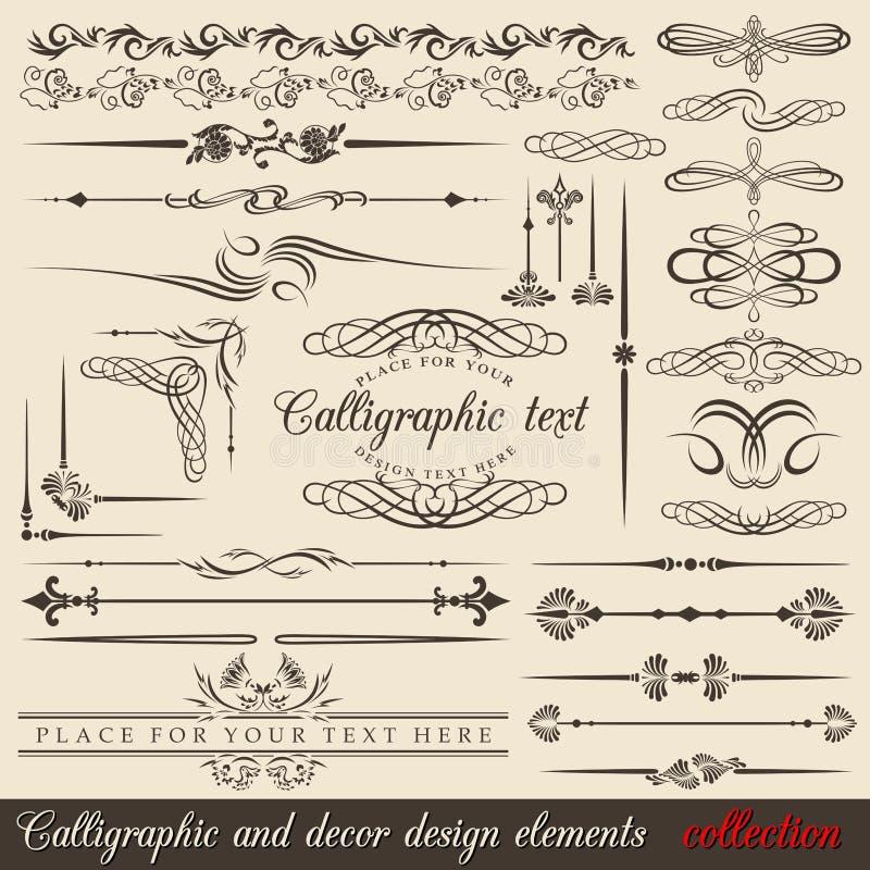 Projektów kaligraficzni elementy ilustracji