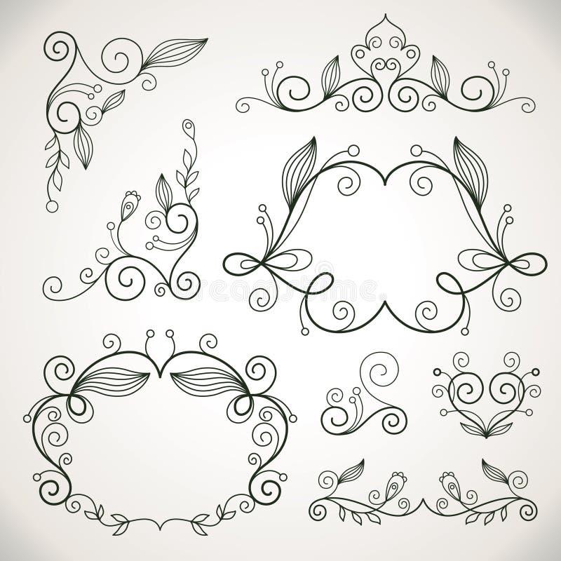 projektów kaligraficzni elementy ilustracja wektor