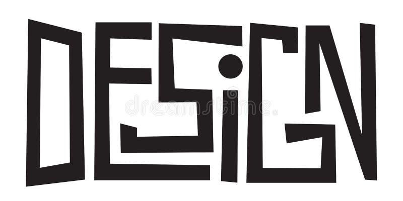 PROJEKTÓW listów pociągany ręcznie sztandar ilustracja wektor