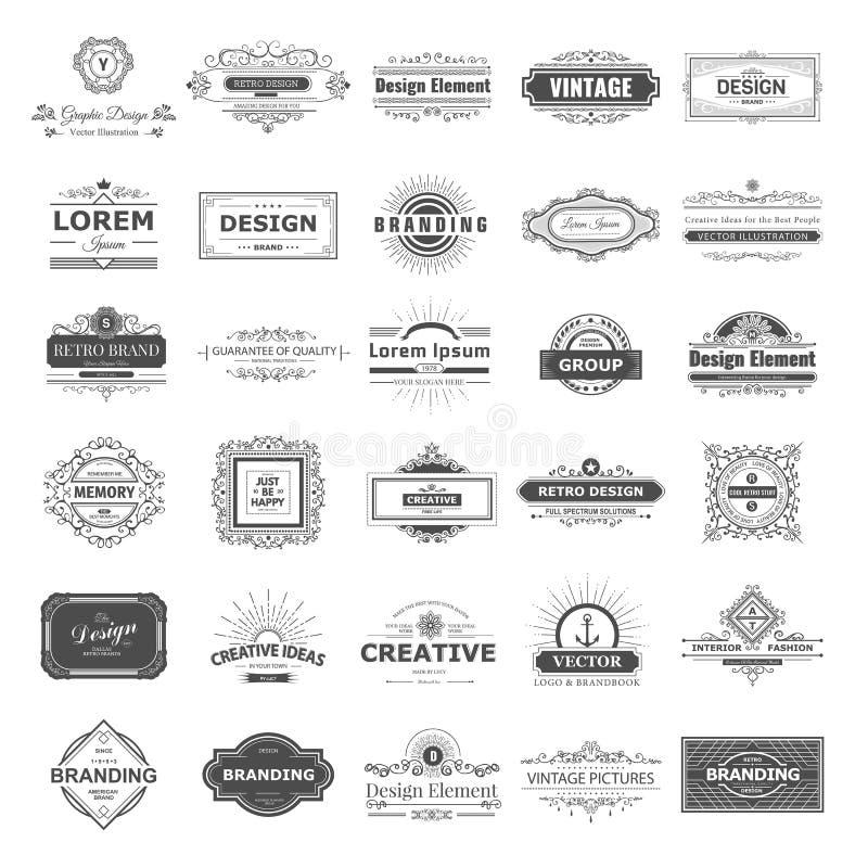 Projektów monogramy i logo ilustracja wektor