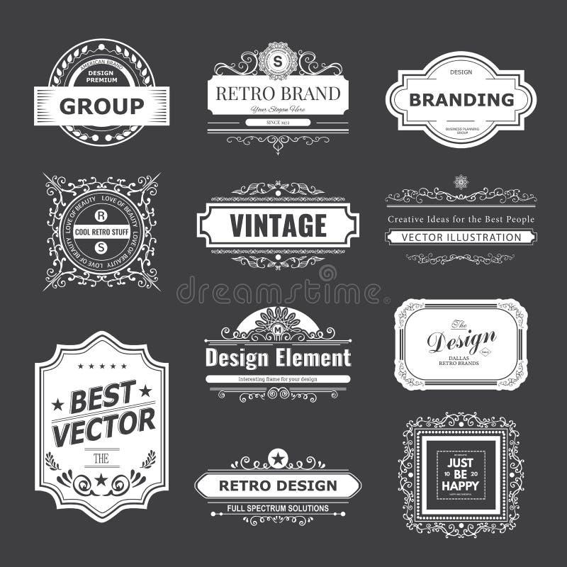 Projektów monogramy i logo ilustracji