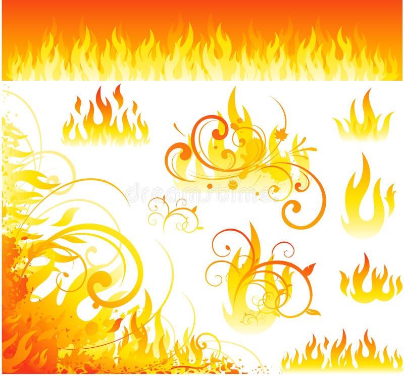 projektów ogienia wektor royalty ilustracja