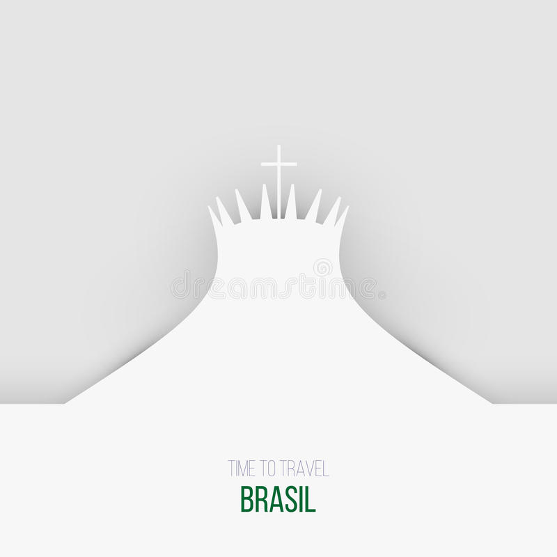 Download Projektów Pomysły Dla Brasil Lub Inspiracja Ilustracja Wektor - Ilustracja złożonej z pocztówka, kontur: 57655824