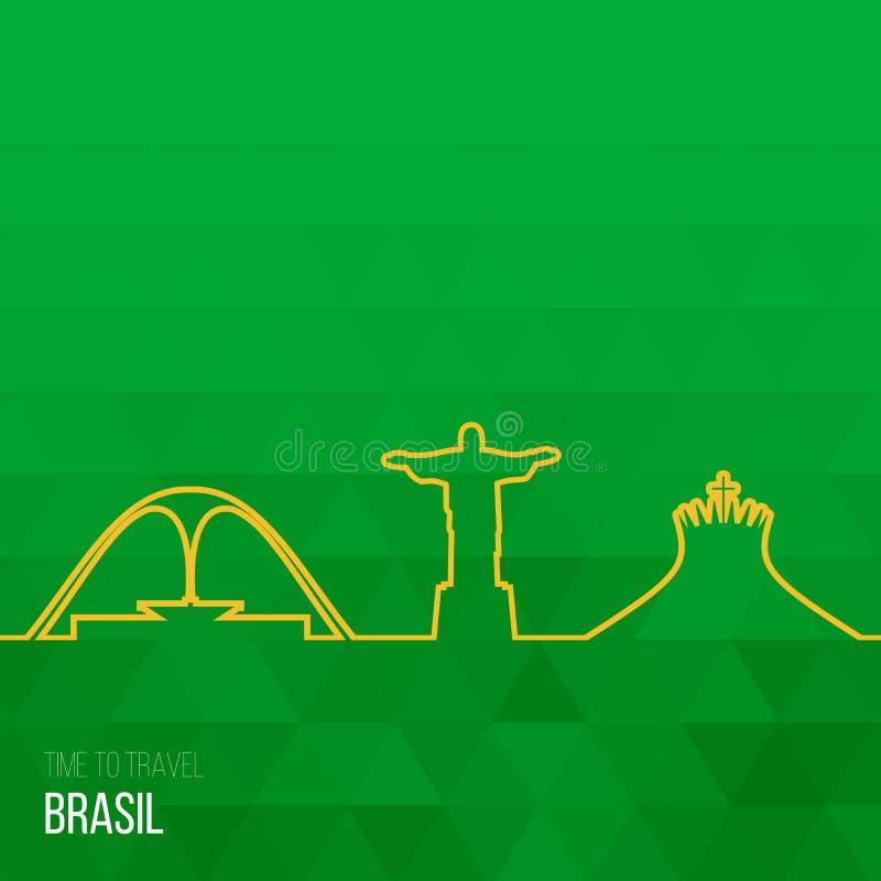Download Projektów Pomysły Dla Brasil Lub Inspiracja Ilustracja Wektor - Ilustracja złożonej z element, emblemat: 57656140
