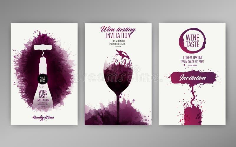 Projektów szablonów tła wina plamy royalty ilustracja
