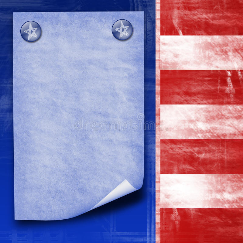 projekt abstrakcjonistyczna amerykańska flaga ilustracja wektor