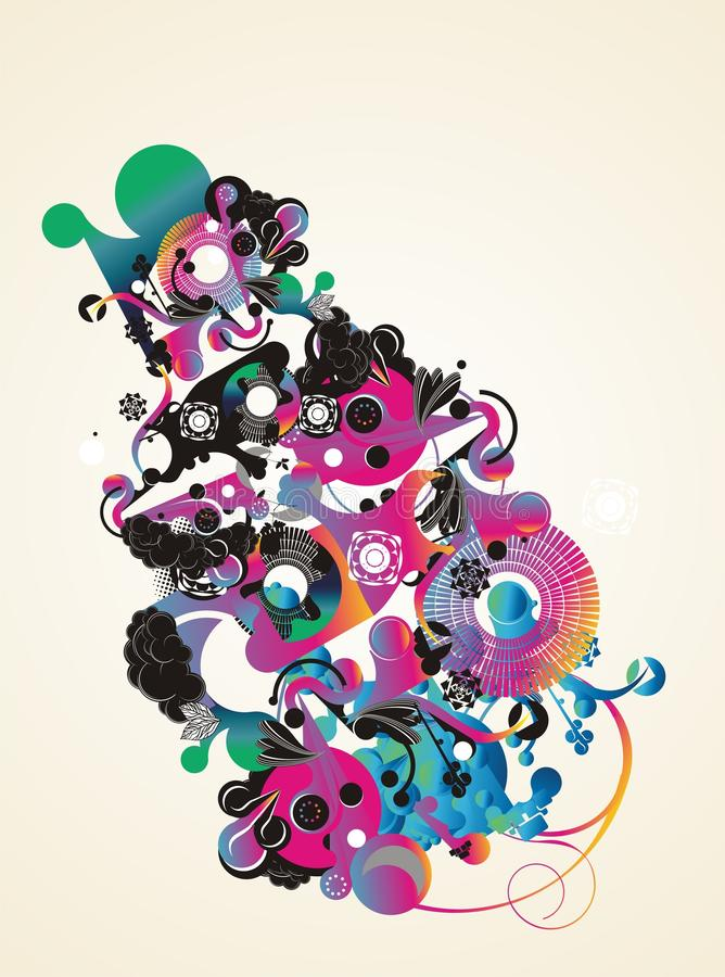 projekt abstrakcjonistyczna koszula t royalty ilustracja