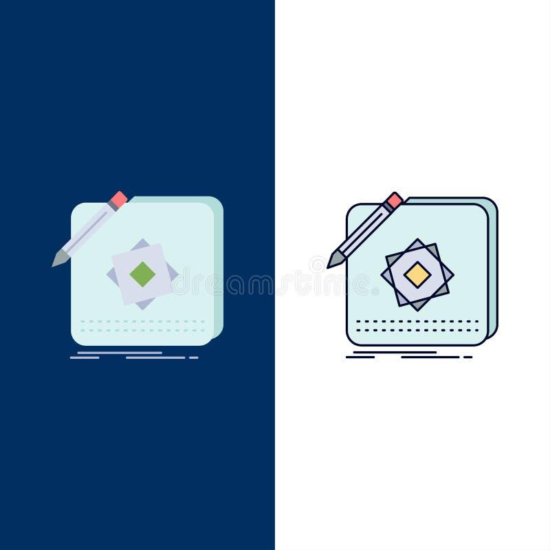 Projekt, App, logo, zastosowanie, projekta koloru ikony Płaski wektor ilustracja wektor