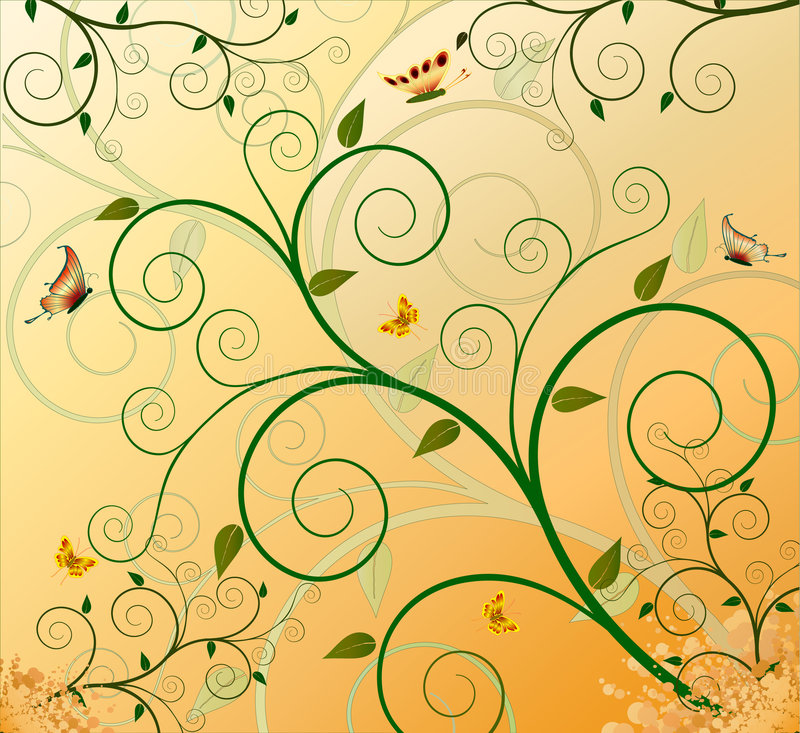 projekt artystyczny kwiecisty tło ilustracji
