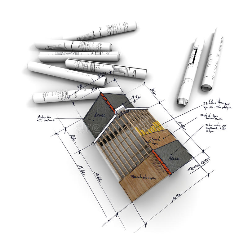 projekt budowy mieszkań powietrzny widok royalty ilustracja