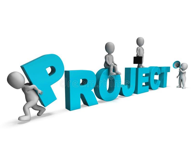 Projekt-Charakter-Show-Risiko-Projekte und Aufgaben lizenzfreie abbildung