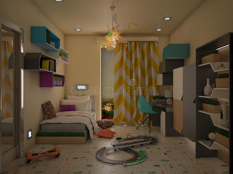 Projekt childre ` s sypialnia obraz stock