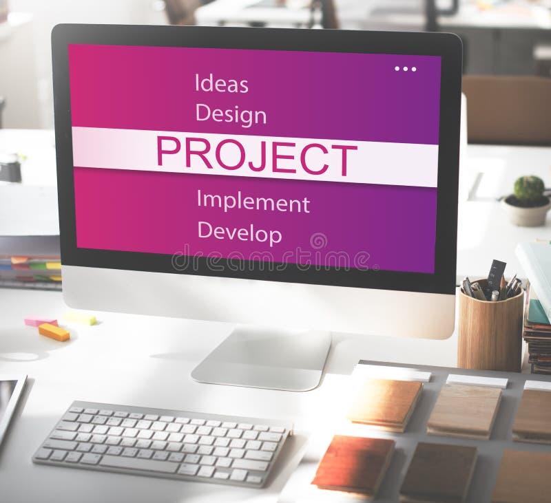 Projekt-Design-Werkzeug-Entwicklungs-Konzept lizenzfreie stockbilder