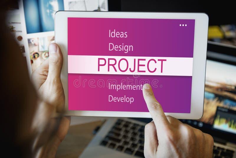 Projekt-Design-Werkzeug-Entwicklungs-Konzept lizenzfreies stockfoto