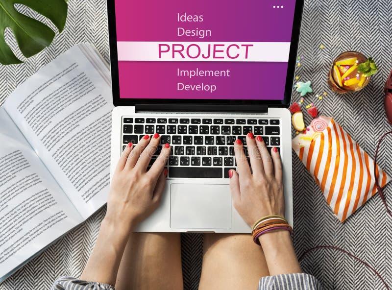 Projekt-Design-Werkzeug-Entwicklungs-Konzept lizenzfreies stockbild