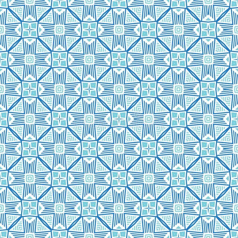 Projekt dla drukować na tkaninie, tkanina, papier, opakowanie, scrapbooking Tradycyjny dachówkowy ornament w etnicznym stylu bezs royalty ilustracja