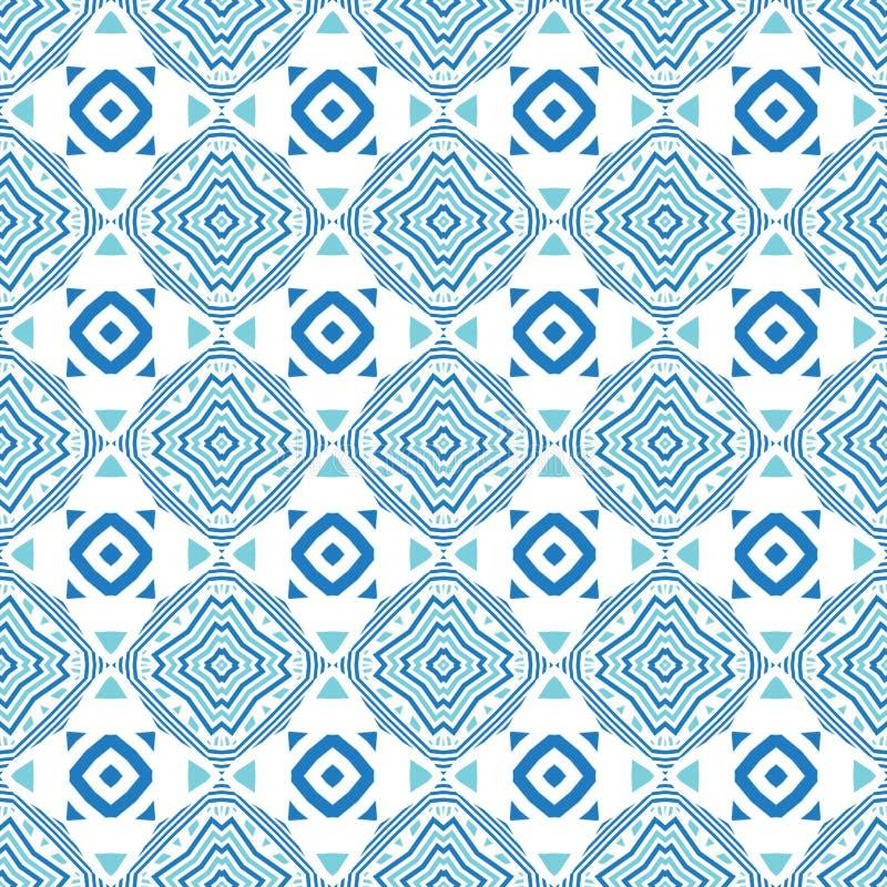 Projekt dla drukować na tkaninie, tkanina, papier, opakowanie, scrapbooking Tradycyjny dachówkowy ornament w etnicznym stylu bezs ilustracja wektor
