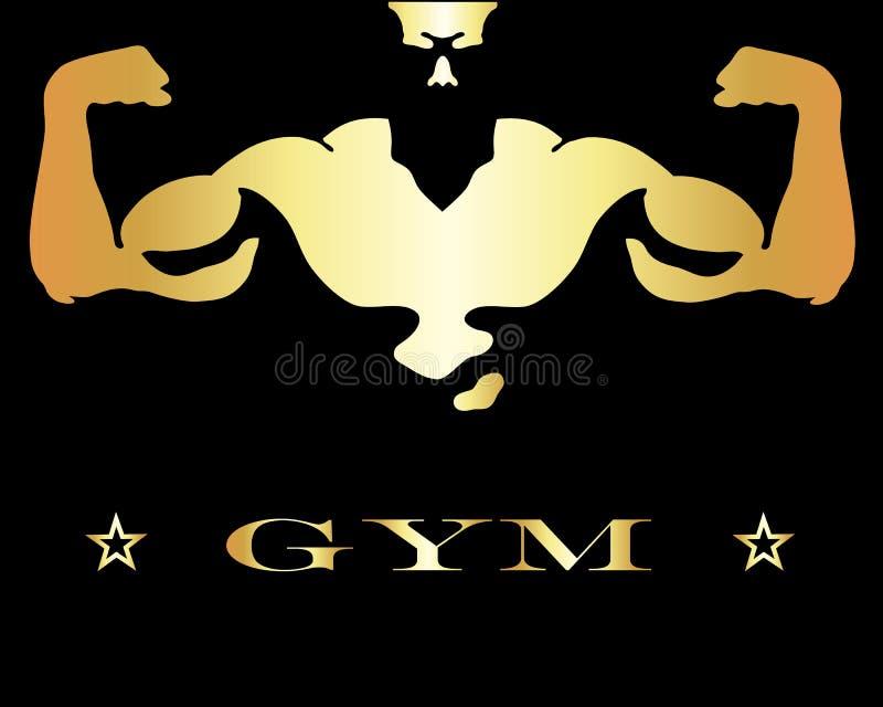 Projekt dla gym i sprawności fizycznej royalty ilustracja