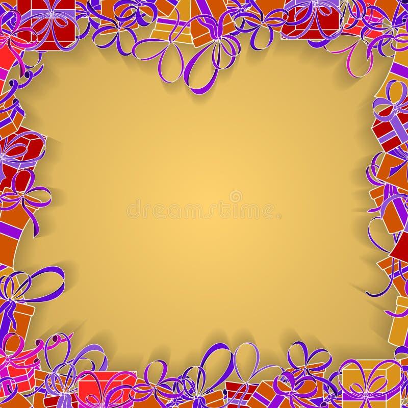 Projekt dla prezent kart, zaproszenia, powitania Pomarańczowy tło royalty ilustracja