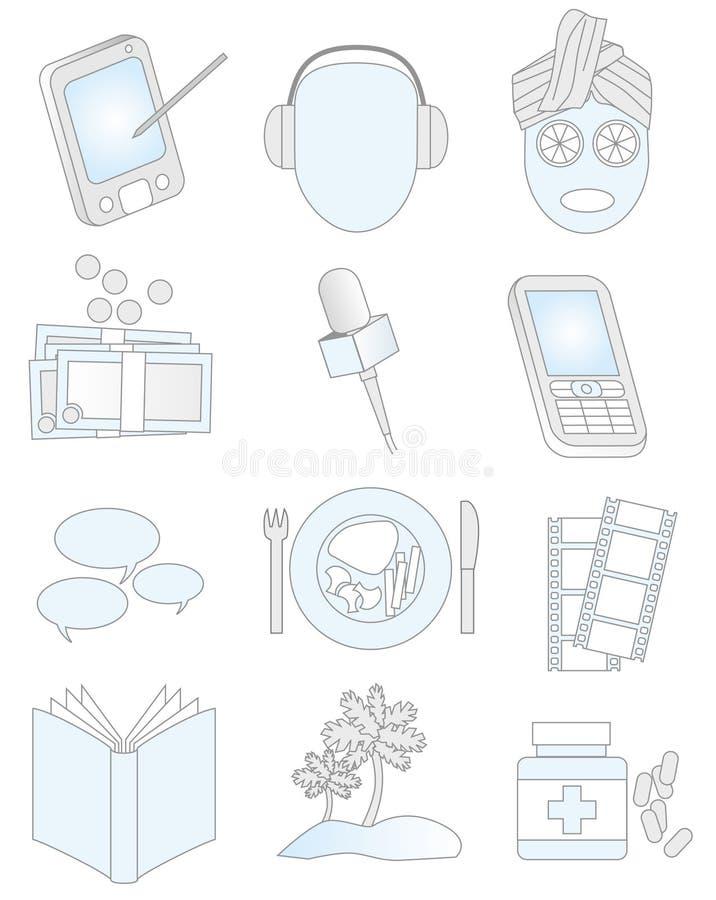 projekt elements01 royalty ilustracja