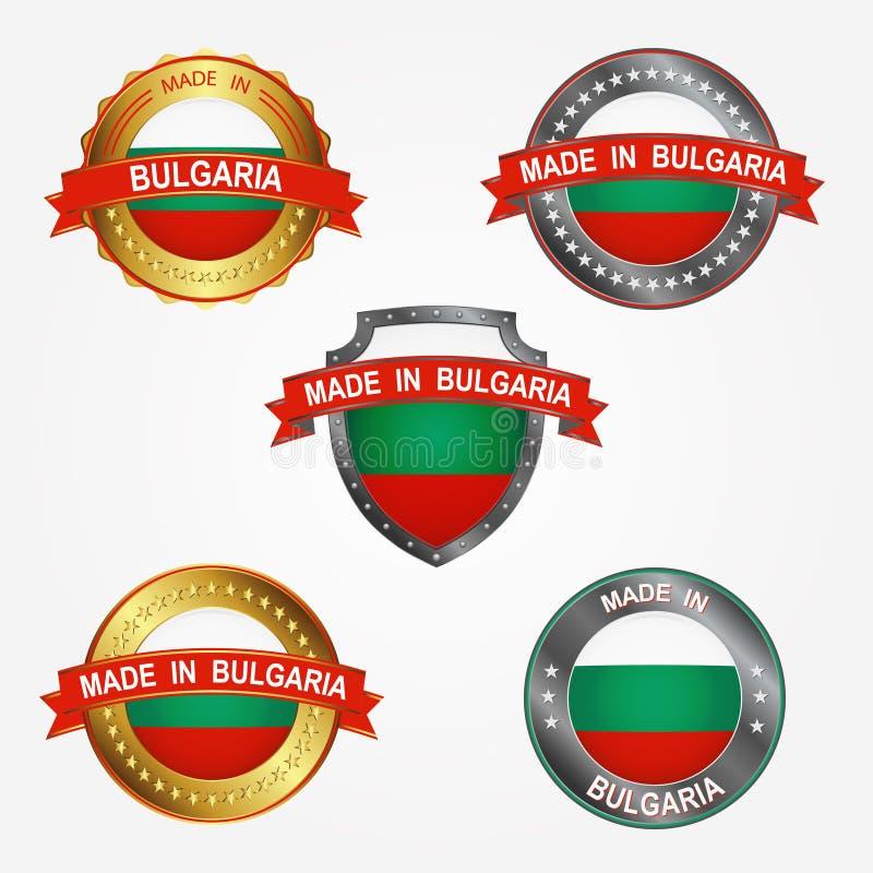 Projekt etykietka robić w Bułgaria również zwrócić corel ilustracji wektora royalty ilustracja