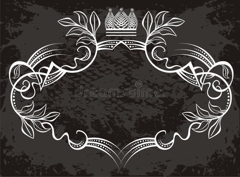 projekt etykiety korony ilustracji