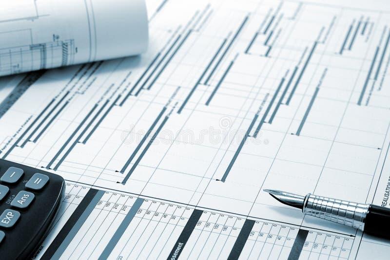 projekt för konstruktionsadministrationsplannin royaltyfri bild