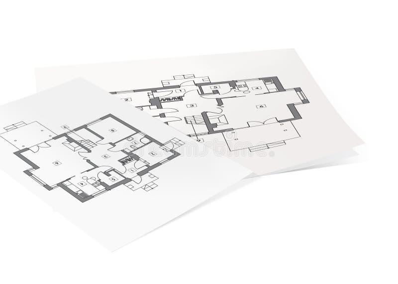 projekt för konstruktionspapper royaltyfri illustrationer