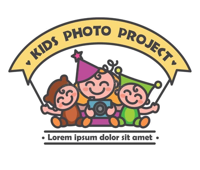 Projekt för logobarnfoto vektor illustrationer