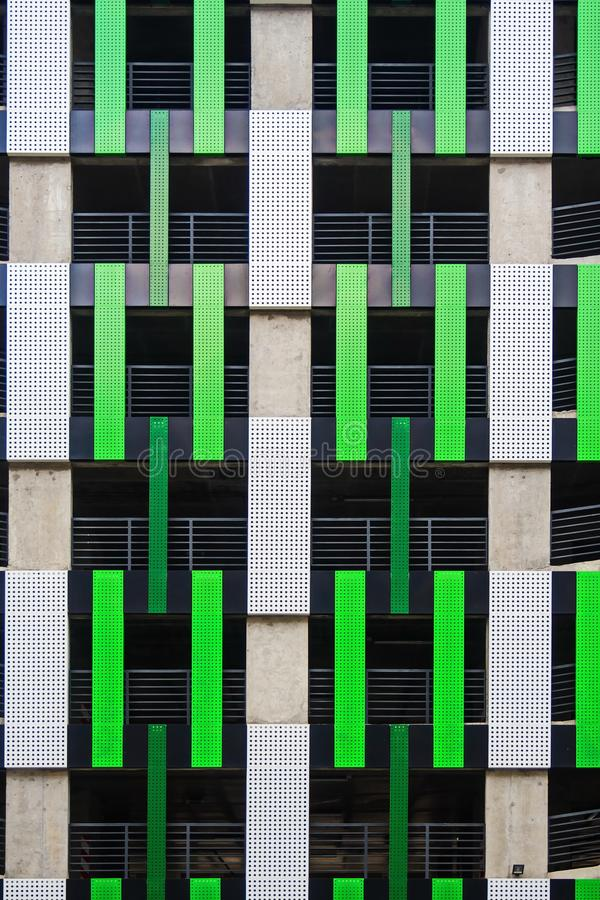 Projekt fasada kondygnacja parking fotografia stock