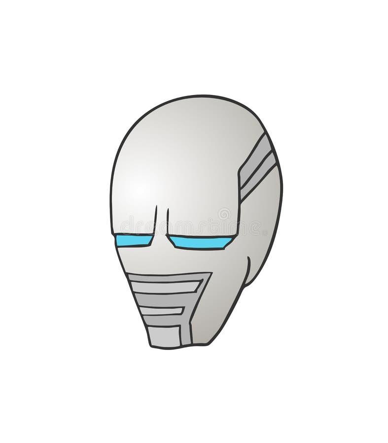 Projekt futurystyczny twarz remis royalty ilustracja