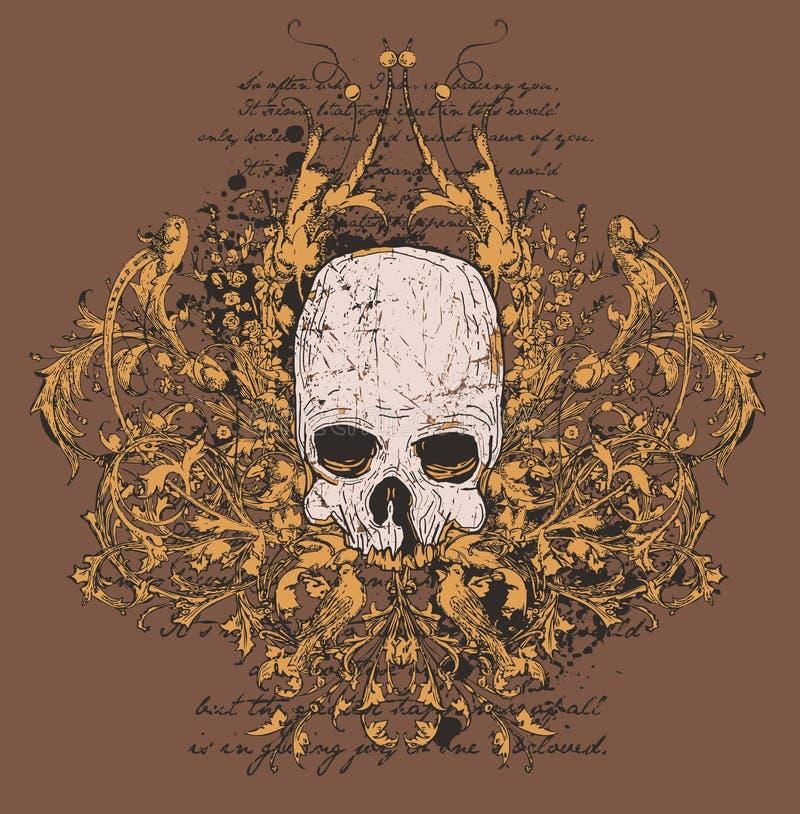 projekt grafiki czaszki ilustracji