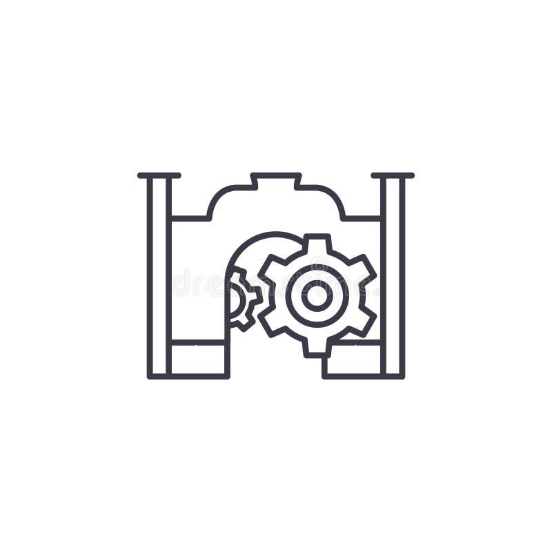 Projekt ikony imię liniowy pojęcie Projekta imienia linii wektoru znak, symbol, ilustracja ilustracja wektor