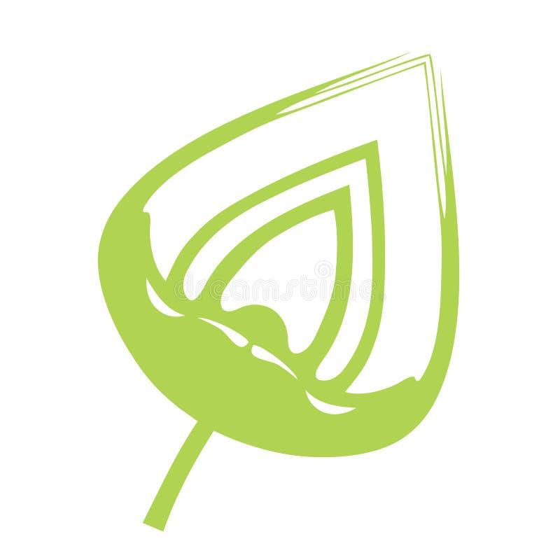 projekt ikony liści ilustracji