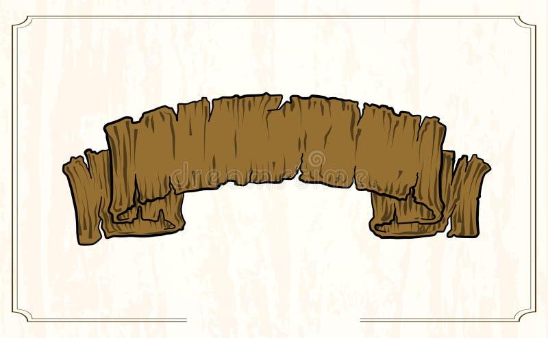 Projekt ilustracji wektorowej tekstury z drewna wstążki obrazy royalty free