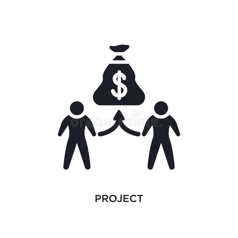 projekt isolerad symbol enkel beståndsdelillustration från crowdfunding begreppssymboler för logotecken för projekt redigerbar de royaltyfri illustrationer