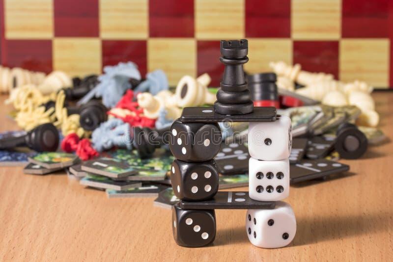Projekt jest jednakowy drabina przedmioty dla popularnych gier planszowa zdjęcie stock