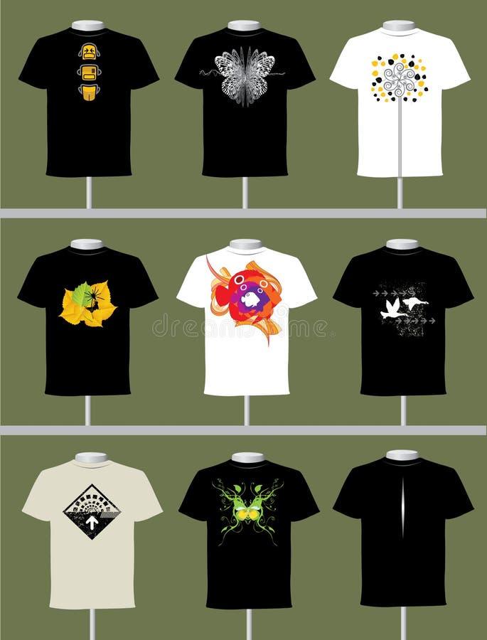 projekt koszula t ilustracja wektor