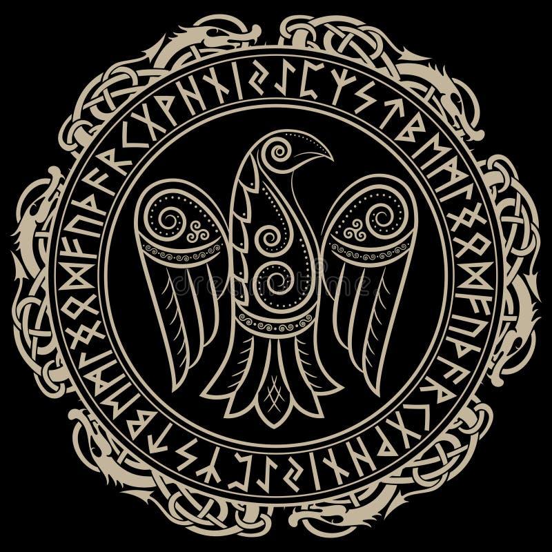 Projekt kruk w celta, skandynawa runes, stylowych i Nordyckich ilustracja wektor