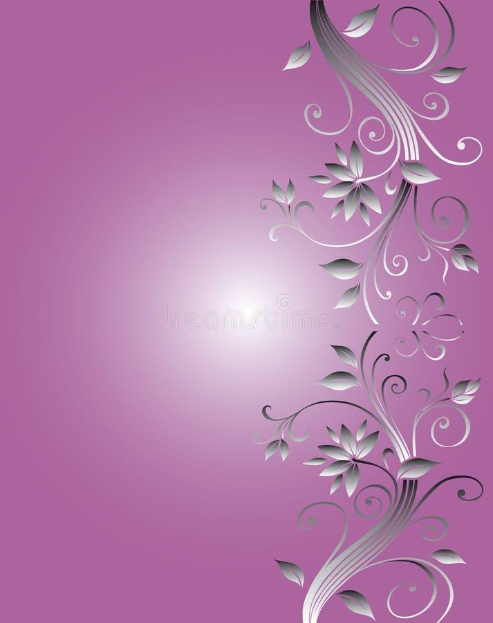 projekt kwiecisty ramowy ślub royalty ilustracja