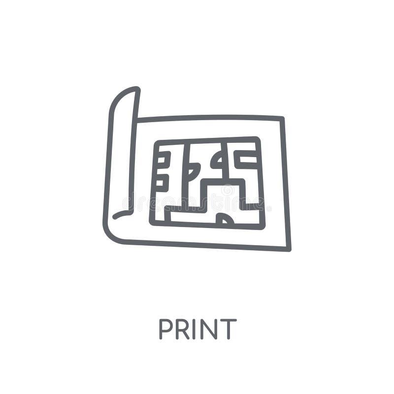 Projekt liniowa ikona Nowożytny konturu projekta logo pojęcie dalej ilustracja wektor