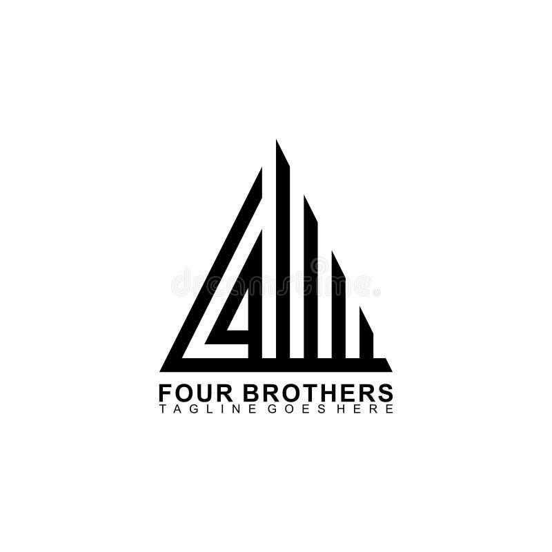 Projekt logo czterech braci Logo Precision ilustracji