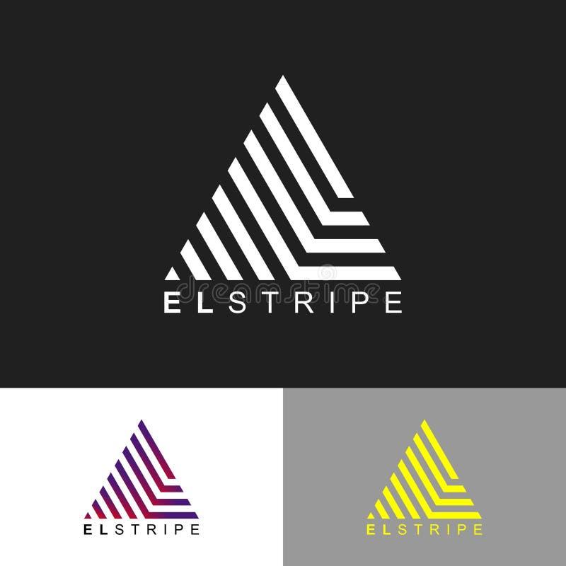 Projekt logo EL Strike Precyzyjne logo geometryczne ilustracji