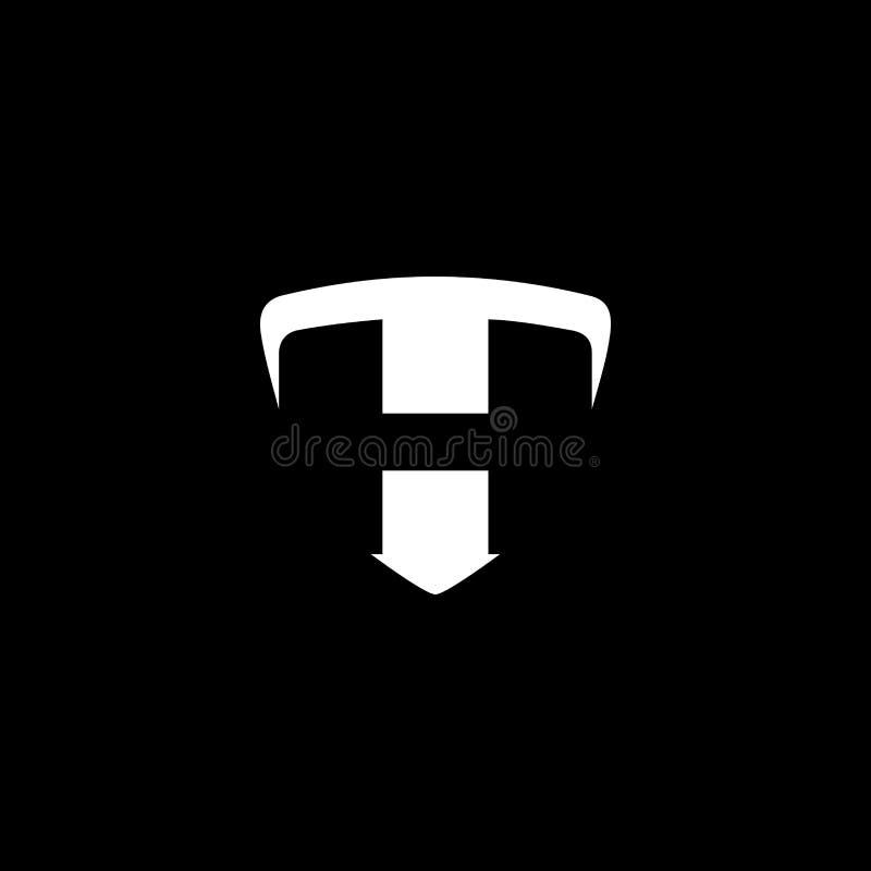 Projekt logo zabezpieczeń T fotografia royalty free