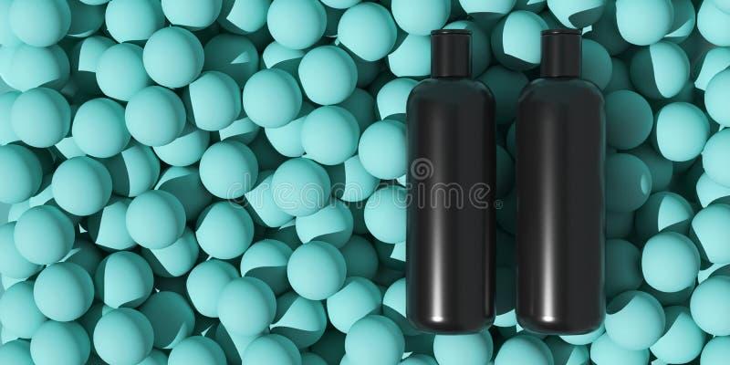 Projekt naturalna kosmetyczna śmietanka, serum, skincare butelki pusty pakować Życiorys organicznie produkt Piękno i zdroju pojęc zdjęcie royalty free