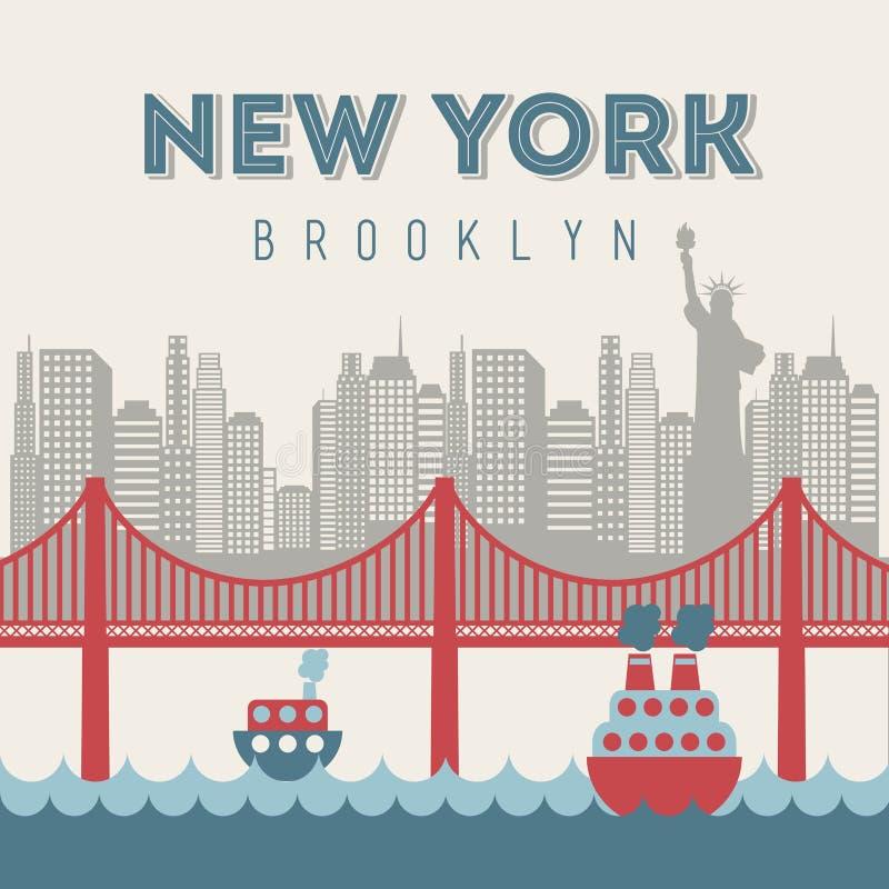 projekt nowy York royalty ilustracja