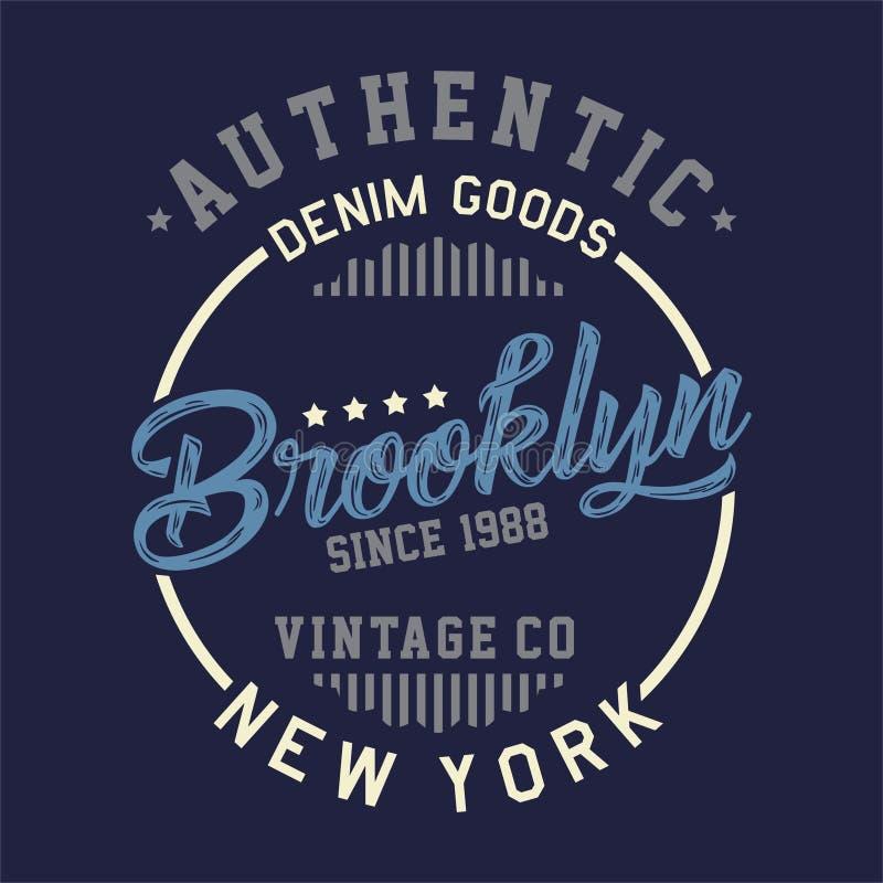 Projekt pisze list autentycznego Brooklyn rocznika royalty ilustracja