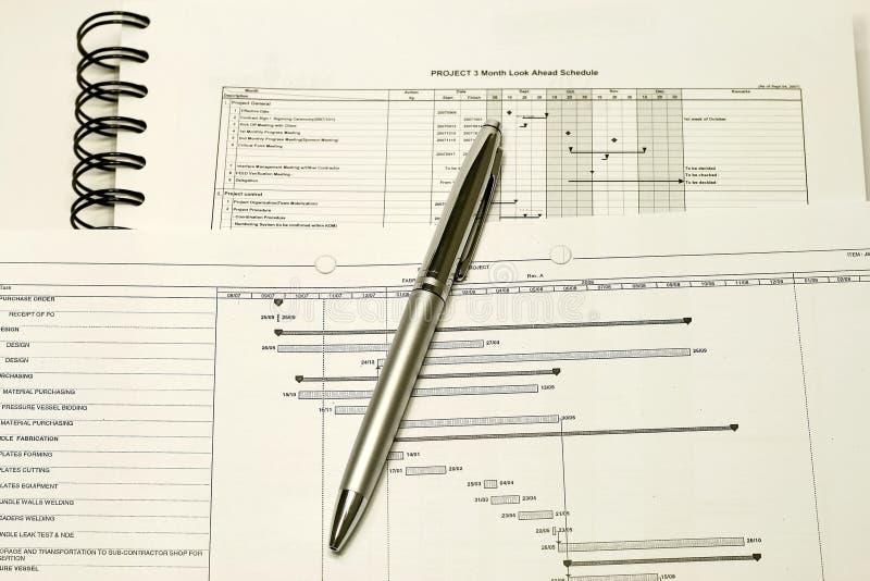 Projekt-Planung und Zeitplan stockfoto