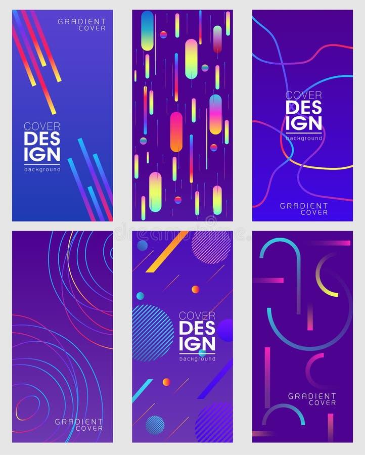Projekt pokrywa z wibrującym gradients-2 lub plakat royalty ilustracja