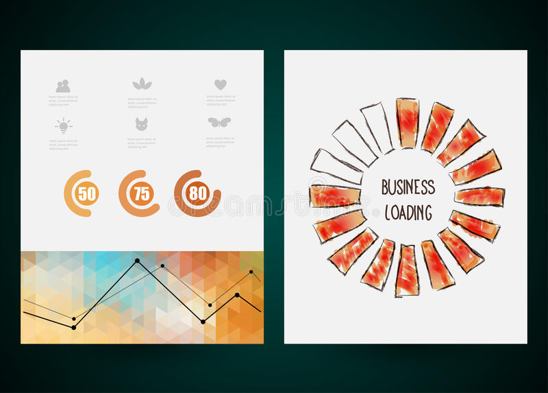 Projekt postępu bar, ładownicza twórczość wektor ilustracji